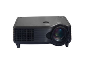 RoHS Certificate Mini 1500 Lumens LCD LED Projector pictures & photos