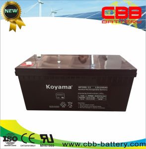 Np200-12 12V 200ah Storage AGM Battery for Back up pictures & photos