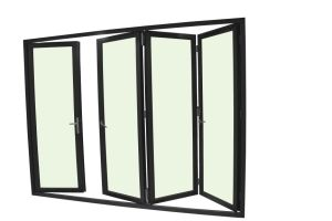 75 Series Thermal Break Aluminum Folding Door with Double Glass pictures & photos