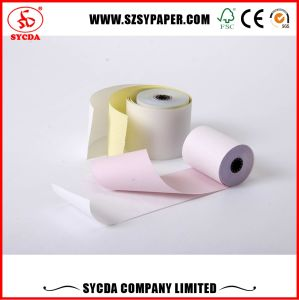 3-Ply Carbonless Receipt Paper Rolls 63G for POS Machine pictures & photos
