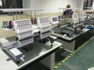 Computerized Flat/Cap/T-Shirt Operation Embroidery Machine Type 2 Heads pictures & photos