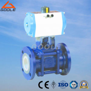 3 PCS Pneumatic Ceramic Lined Floating Ball Valve (GQ641TC) pictures & photos