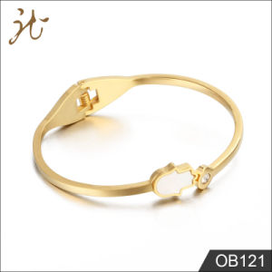 Gold Buddha Hand Stainless Steel Bangle Ob121 pictures & photos
