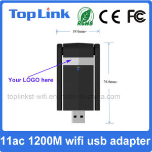 802.11AC 2T2R 1200Mbps High Speed USB 3.0 Wireless WiFi Adapter with External Antenna for Transmitter and Receiver pictures & photos