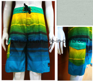 Man′s Swimming Shorts, Strip Polyester Quickly Dry Beach Wear pictures & photos