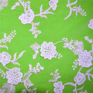 Garment Accessories Voile Polyester Fabric Lace (GF1014) pictures & photos
