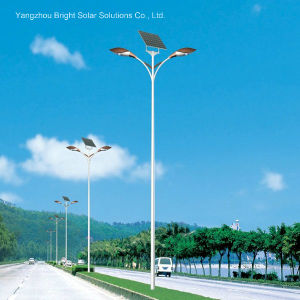 30W, 60W, 120W Double Arm High Power Solar LED Street Light with Hot-DIP Galvanized Pole pictures & photos