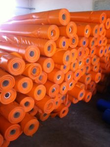 PVC Coated Fabric/Cloth, 600d*600d, for Lumber Covering