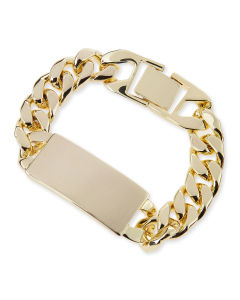 14k Gold-Plated ID Bracelet