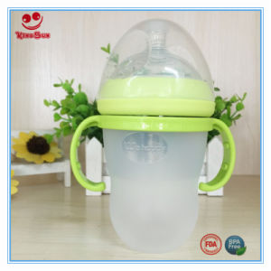 Ultra Wide Neck Silicone Baby Feeding Bottle 220ml pictures & photos