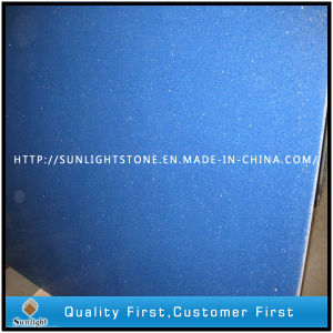 Artificial Solid Surface Blue Colors Quartz for Flooring, Countertops pictures & photos