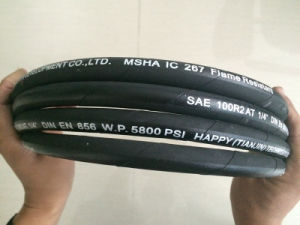 DIN En 853 2sn/ SAE 100r2at Two Wire High Pressure Hydraulic Rubber Tube pictures & photos