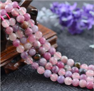 New Arrival Natural Gemstone Loose Strand 5-5.5, 6-6.5, 7, 8 mm Natural Rough Pink Tourmaline pictures & photos
