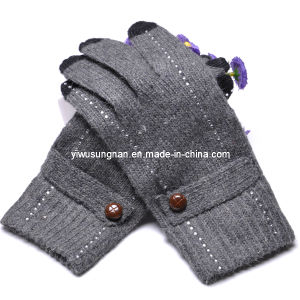 2015 Knitted Lady′s Fashion Finger Touch Gloves pictures & photos