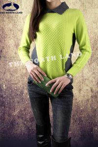 Ladies′ 100% Cashmere T Neck Pullover pictures & photos