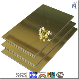 Gold Silver Mirror Anodized Aluminum Composite Panels with Imported Material pictures & photos