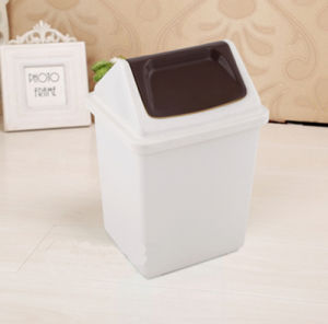 White 10 Liter Clamshell Mini Trash Can Container pictures & photos