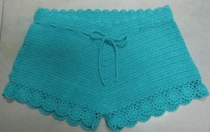 Ladies Crochet Beach Shorts (R966)