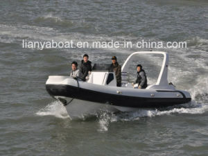 Liya 25ft Fiberglass Hull Inflatable Racing Boat Marine Boats for Sale pictures & photos