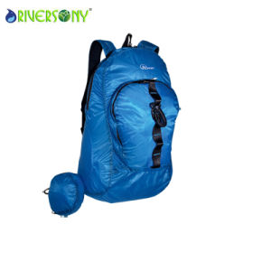Ultra-Light Nylon Pocket Bag Folding Backpack for Bicycle Sport Traveling pictures & photos