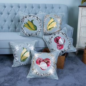 Foil/Gold&Silver Printed Decorative Cushion/Pillow (MX-52) pictures & photos
