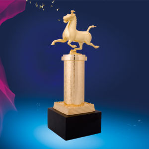 Customized Plating Trophy with Zinc Alloy Material pictures & photos