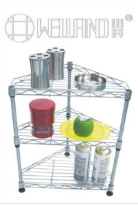 New DIY 3 Tiers Chrome Metal Corner Wire Rack pictures & photos