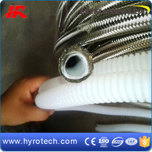 Stainless Steel Braided PTFE Convoluted Teflon Hoses pictures & photos