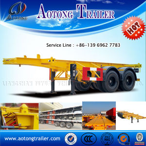 2 Axles 20ft Skeleton Container Semi Trailer for Sale pictures & photos