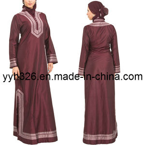 2014 Yyh Muslim Women Elegant Long Sleeve Abaya Long Dress