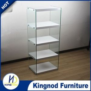 Glass Wooden MDF High Gloss Book Shelf or Rack pictures & photos