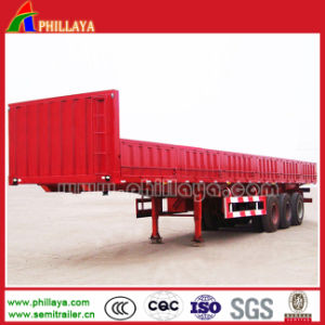 Steel Container Trailer with Side Pannels Flatbed Trailer pictures & photos