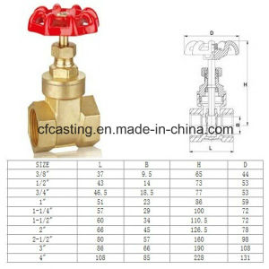 Chifine Bronze Non-Rising Stem Gate Valve pictures & photos
