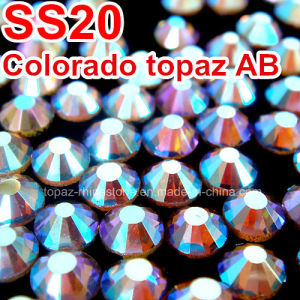 Topaz Ab Color Ss20 World DMC Stone Wholesale Glass Heat Transfer Stone (HF-SS20 Topaz ab) pictures & photos