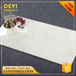 400*800 China Factory Discontinued Wall and Floor Tile 3D Beige Marble Look Ceramic Tile pictures & photos