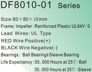 80X80X10mm Cup Fan Cooler DC8010 Fan pictures & photos