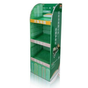 Corrugated Floor Retail Display Shelf, Floor Standing Display Units, pictures & photos