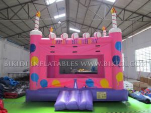 Inflatable Birthday Cake Bounce House B1162 pictures & photos