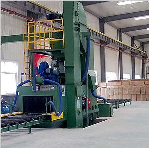 Roller Conveyor Type Section Steel Shot Blasting Machine