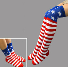 American Flag Womens Thigh High Socks for Wholesale