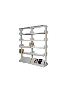 Steel Double Side Library Book Rack Office Furniture with Adjust Shelves/Bookshelf pictures & photos