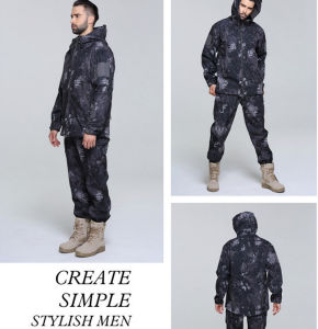 Outdoor Windproof Water Proof Sublimation Printing High Quality Military Camouflage Suit Jacket pictures & photos