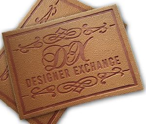 Brown Hot Stamped Branded Leather Patch pictures & photos