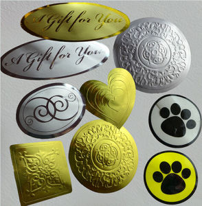 Small Golden Silver Gift Decorating Labels pictures & photos