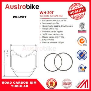 Bike Clincher Tubular 20mm Super Light Carbon Tubular 46mm Road Rim pictures & photos