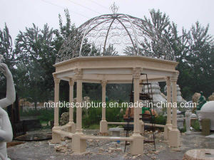 Egypt Cream Beige Qu Yang Stone Sculpture Marble Gazebo (SY-G010) pictures & photos