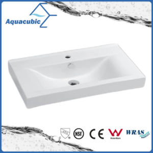 Double Bowl Rectangular Bathroom Ceramic Cabinet Basin Hand Washing Sink (ACB4612D) pictures & photos