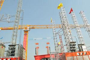Flattop Tower Crane Qtz80p (PT5613) Max Load 8t pictures & photos