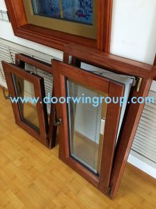 Middle East Solid Wood Aluminium Window, Durable Casement Inward Opening Casement Tilt & Turn Window pictures & photos