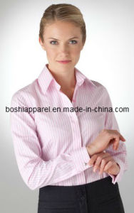 Wholesale Classic Ladies Business Cotton Shirts of Pink Color pictures & photos